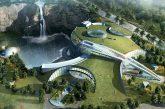 In Cina il primo hotel al mondo dentro una cava: 18 piani di cui due sommersi