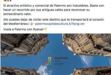 Palermo, sulle ali di Ryanair, lancia campagna promozione per il mercato estero