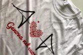 Le magliette 'Genova nel cuore' vendute nei mercatini di Natale