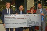 L'aeroporto Leonardo da Vinci festeggia il suo 15milionesimo passeggero