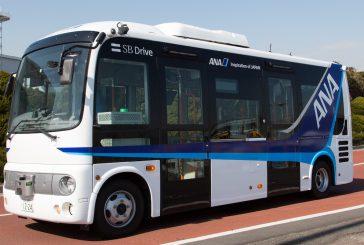 ANA testa autobus senza conducente all'aeroporto di Haneda