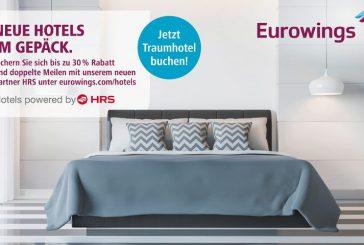 Eurowings e HRS offrono riduzioni fino al 30% su hotel selezionati