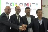 Dolomiti bellunesi presentano nuovo logo multicolor e claim 'The mountains of Venice'