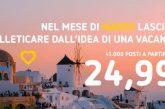Nuova promozione Vueling: 41.000 posti da 25 euro