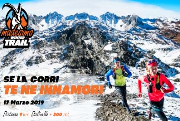 Correre sulla neve sulle strade di Carducci con il Madesimo Winter Trail