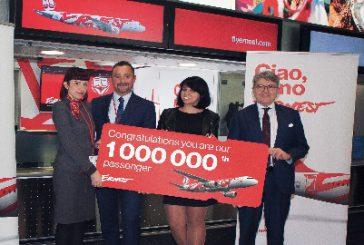 Ernest Airlines festeggia il suo milionesimo passeggero