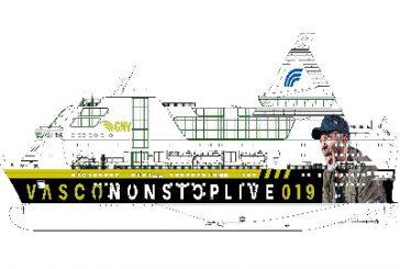 Nuova livrea dedicata a Vasco Rossi per il traghetto Rhapsody di GNV