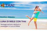 Vantaggi esclusivi per i neosposi che scelgono Thai Airways per il viaggio di nozze
