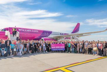 Wizz Air compie 15 anni e festeggia il traguardo di 200 mln di pax