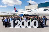 Airbus consegna il suo 12.000° aeromobile a Delta Air Lines