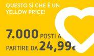 Vueling lancia 'Yellow Day', voli a prezzi speciali per la meta del cuore