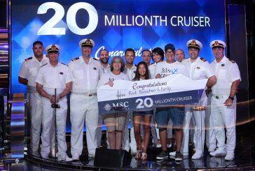 MSC Crociere celebra il traguardo dei 20 mln di passeggeri
