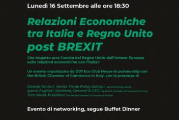 A settembre si parla di Brexit negli eventi di networking di DO7 Eco Club House
