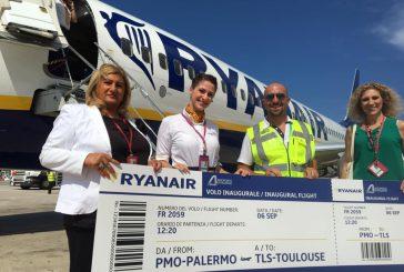 Ryanair anticipa di due mesi l'avvio del volo Palermo-Tolosa