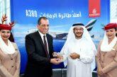 L'Airbus 380 di Emirates è atterrato a Il Cairo