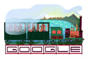 Compie 180 anni la linea Napoli–Portici e Google lo ricorda con un doodle